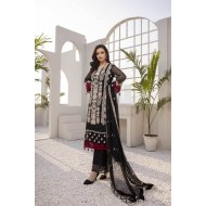 Azure Festive Collection 2021 Pakistani Suits D-01 Black Daisy