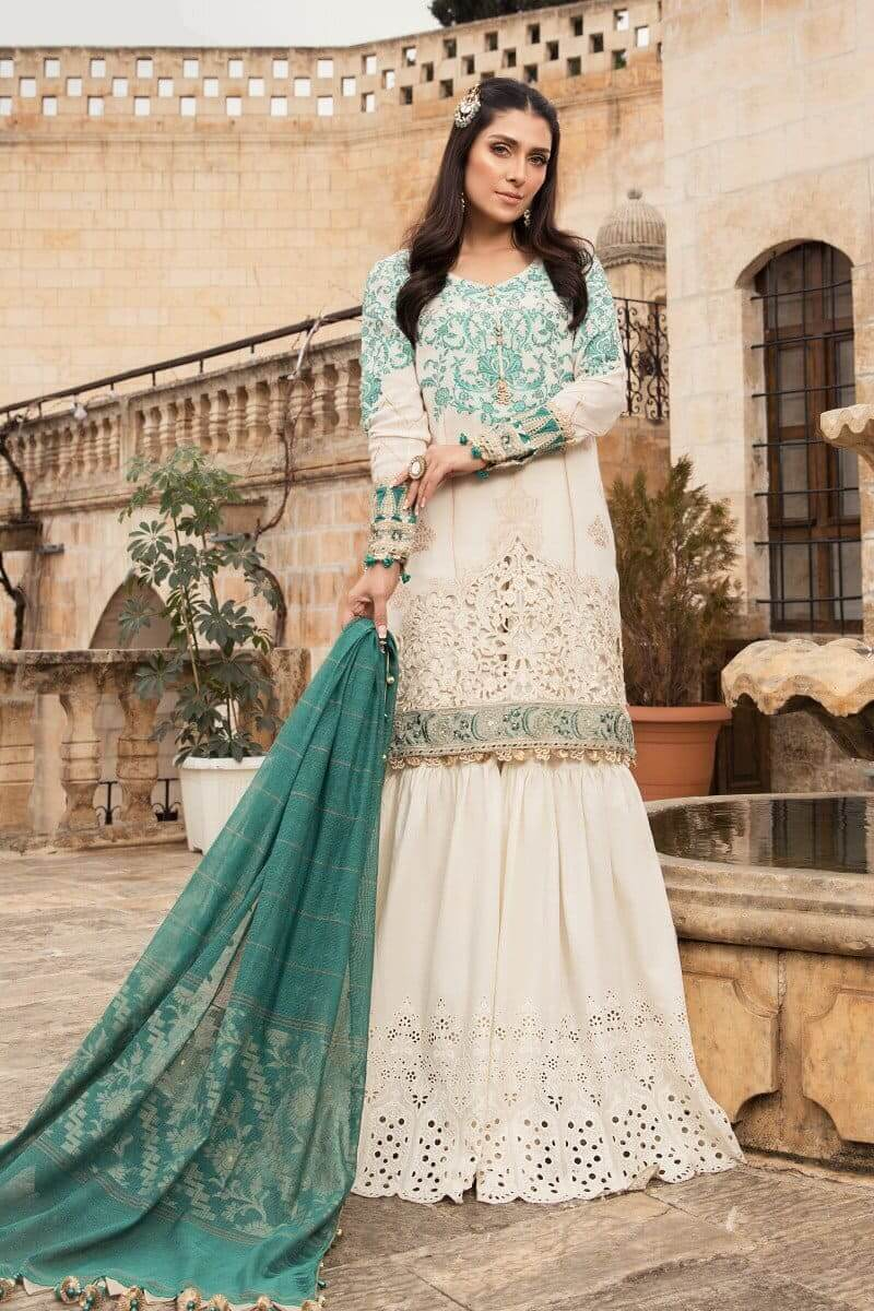 Mariab Lawn Summer Collection 2021 Designer Suits D-2103-A