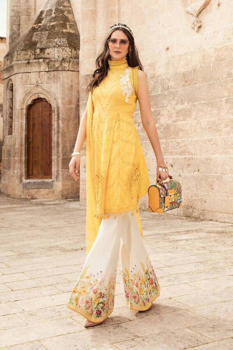 Mariab Lawn Summer Collection 2021 Designer Suits D-2105-A