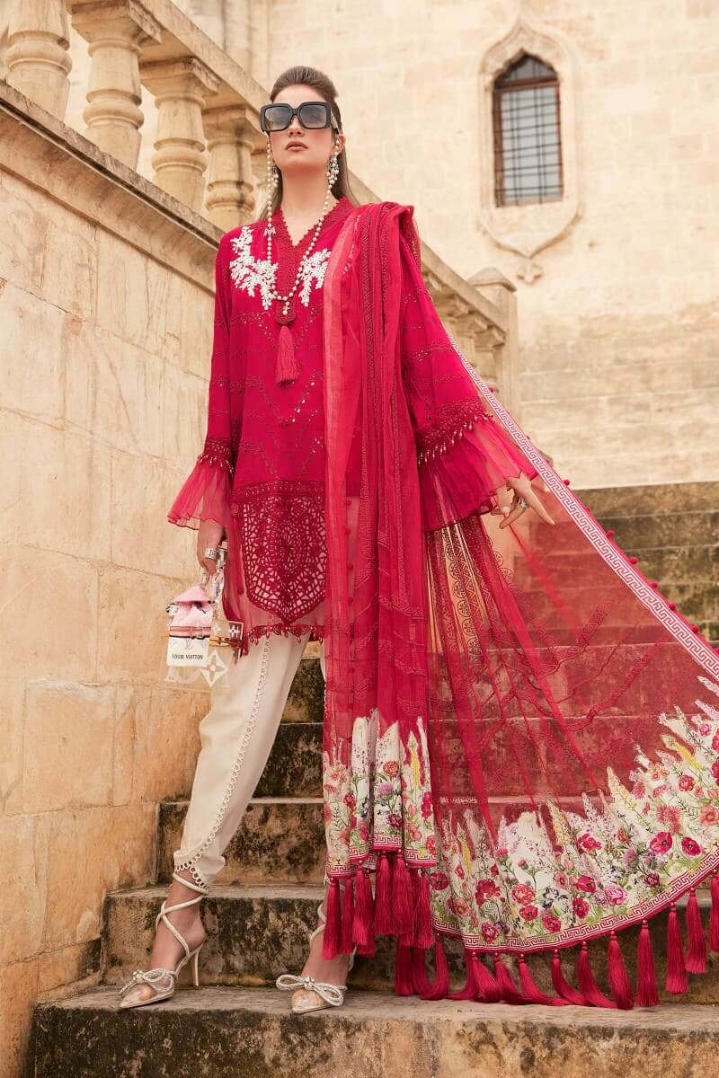 Mariab Lawn Summer Collection 2021 Designer Suits D-2105-B