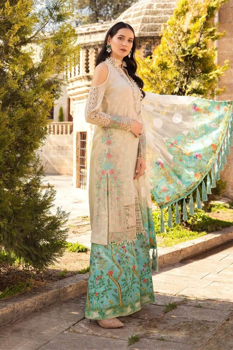 Mariab Lawn Summer Collection 2021 Designer Suits D-2107-A