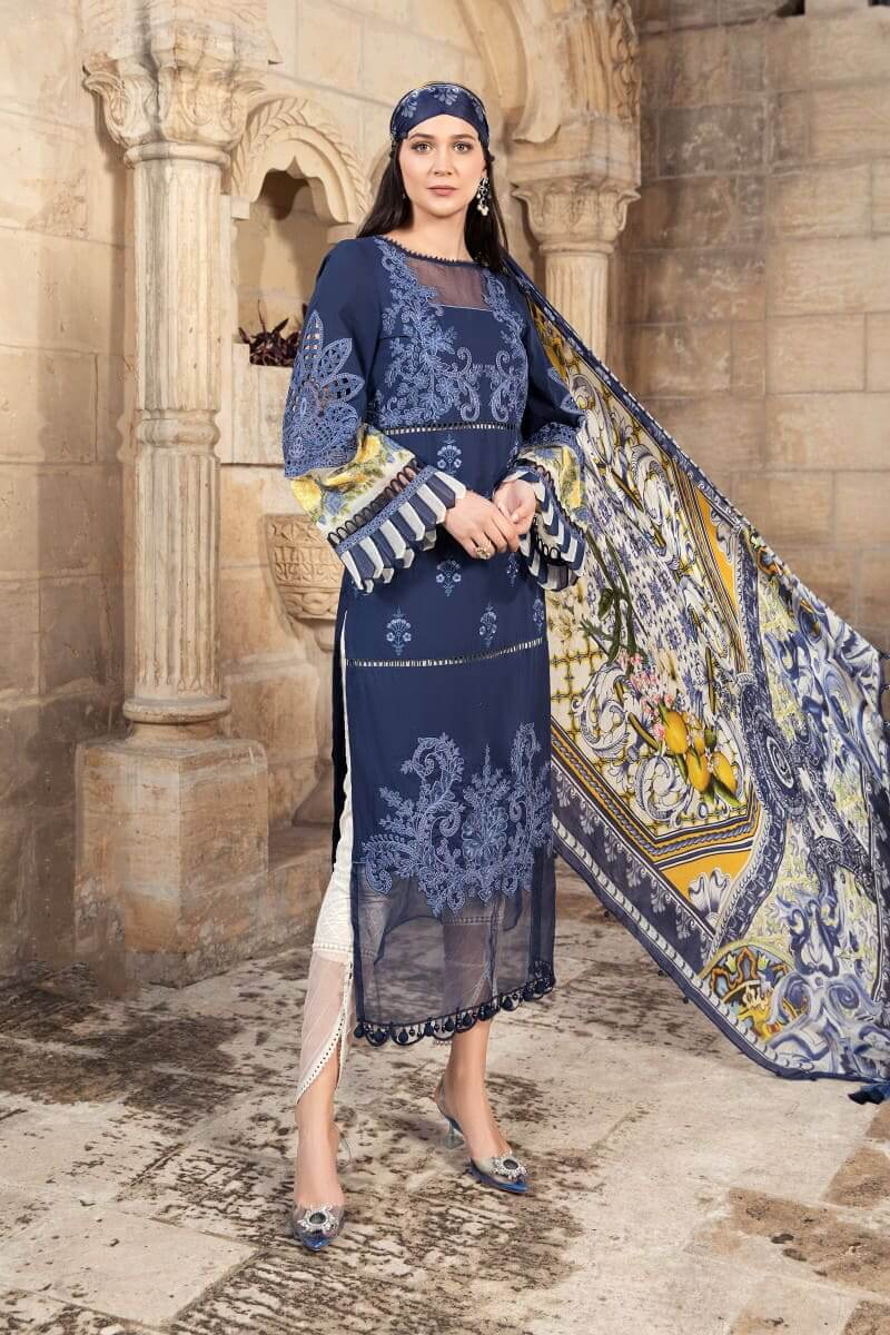 Mariab Lawn Summer Collection 2021 Designer Suits D-2108-A