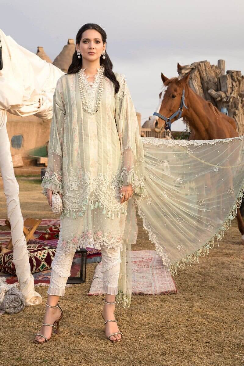 Mariab Lawn Summer Collection 2021 Designer Suits D-2110-A
