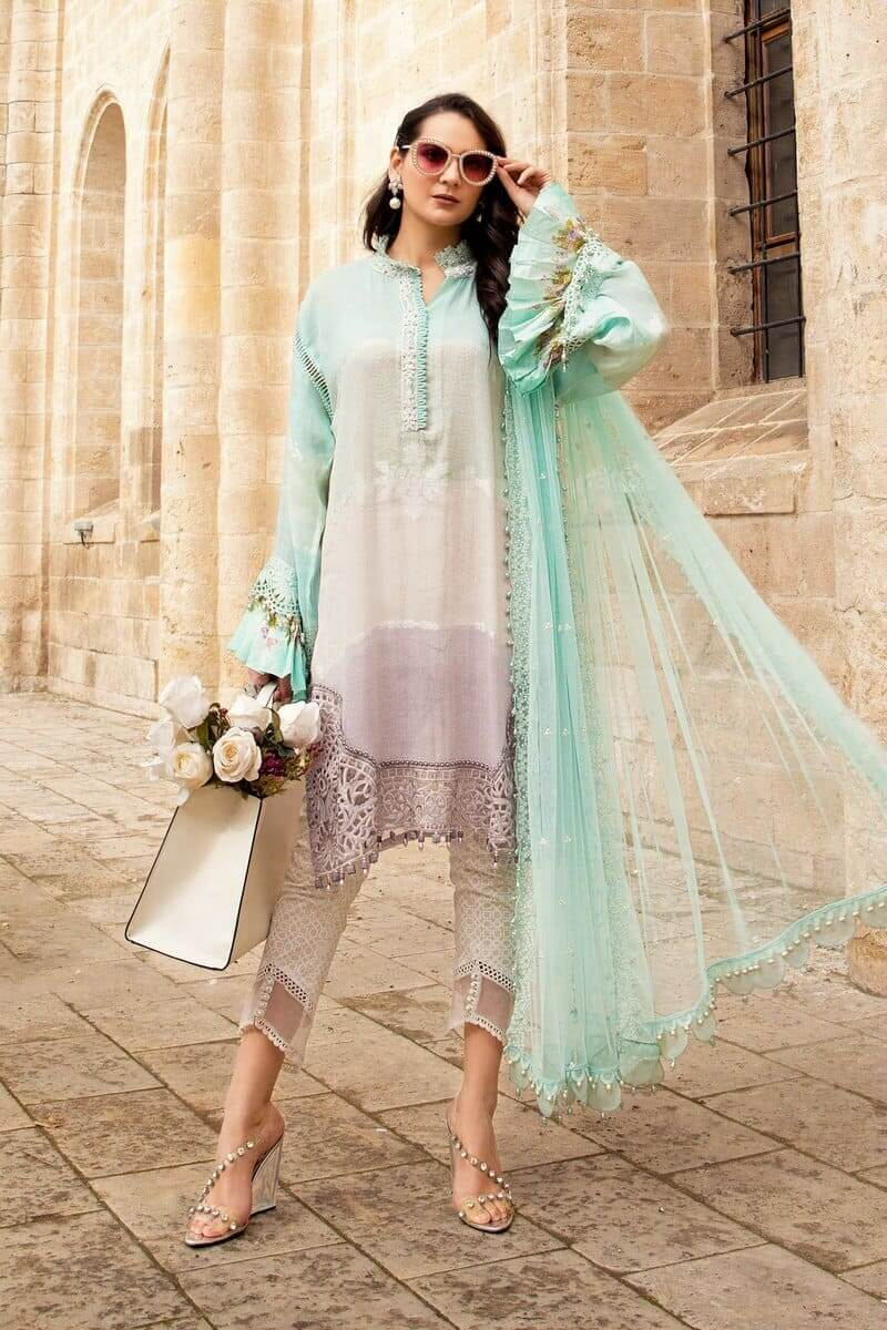 Mariab Lawn Summer Collection 2021 Designer Suits D-2112-B