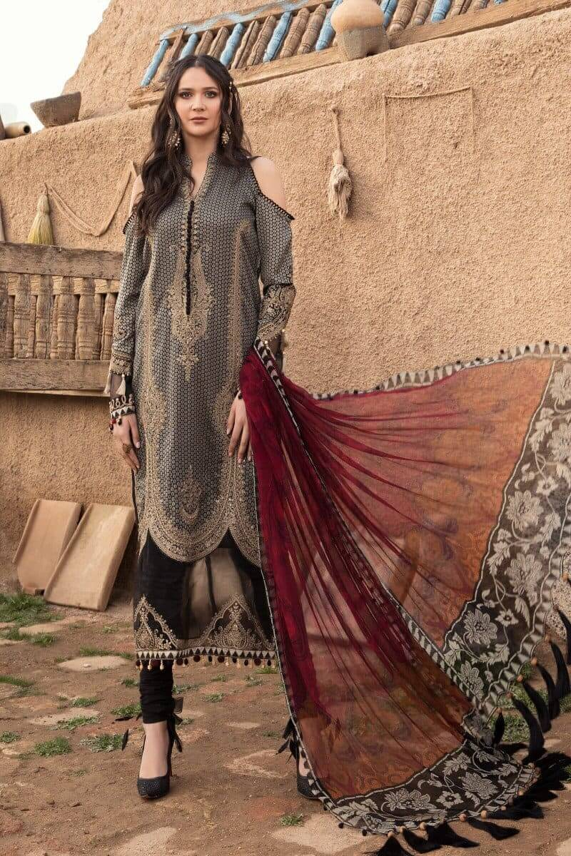 Mariab Lawn Summer Collection 2021 Designer Suits D-2114-A