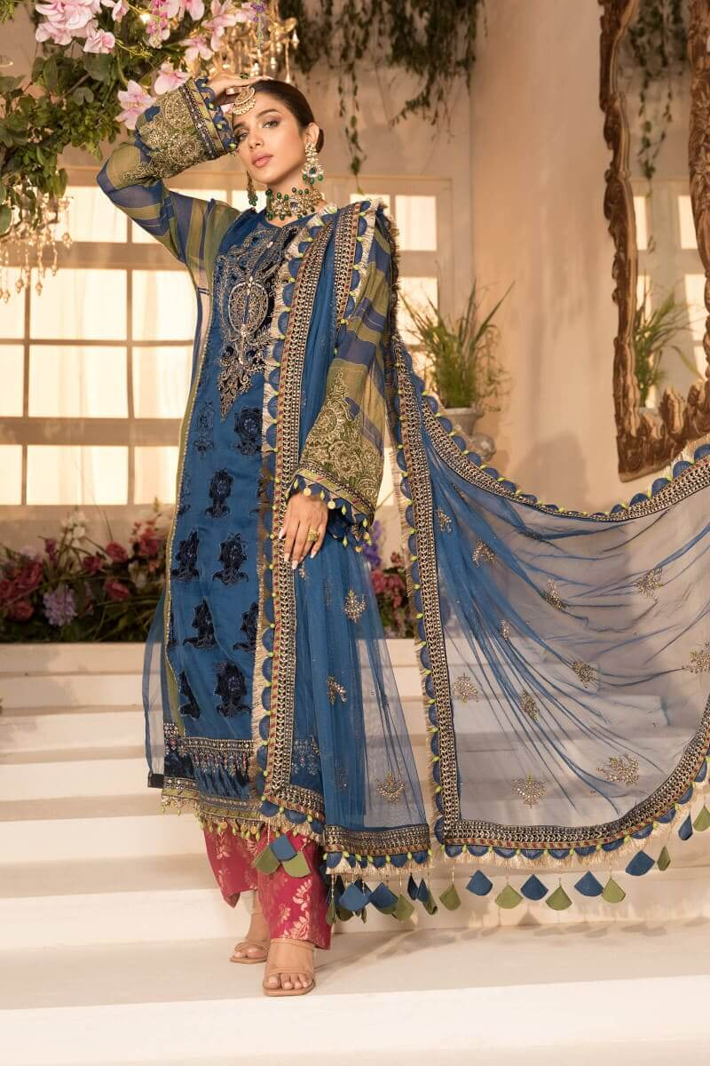 Mbroidered Eid 2021 By Mariab Pakistani Suits BD-2104