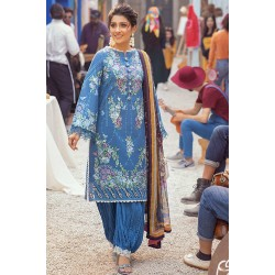 Mushq Summer Lawn 2021 Pakistani Suits MLL-10 BLUE HEAVEN