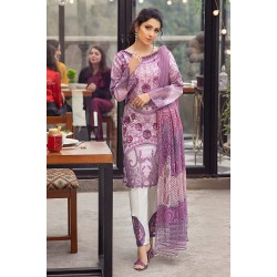 Mushq Summer Lawn 2021 Pakistani Suits MLL-13 MAUVE ORCHID