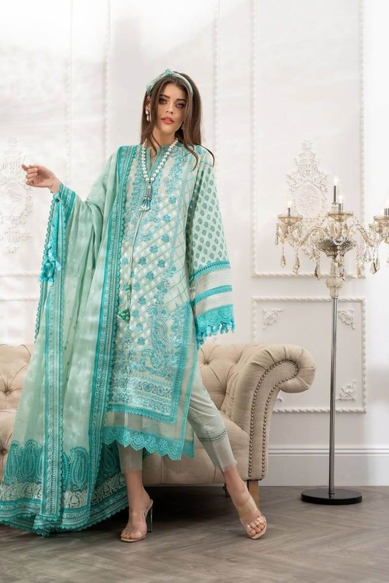 Luxury Lawn 2021 by Sobia Nazir Pakistani Suits Design 4B