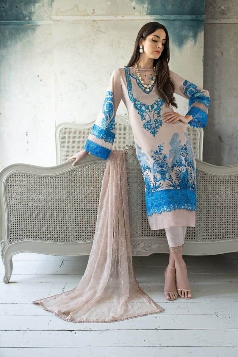 Sobia Nazir Vital Lawn 2021 Pakistani Suits Design 12A