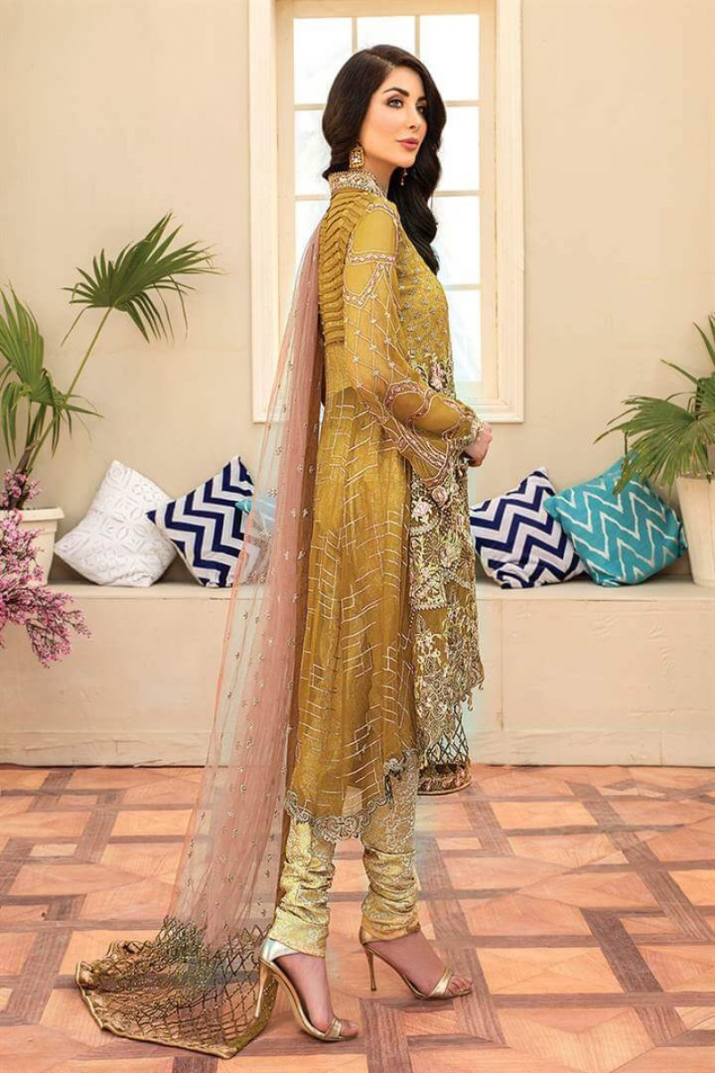 Pakistani Suits Maryam's Summer Collection Vol-17 M-59 Dainty Lime