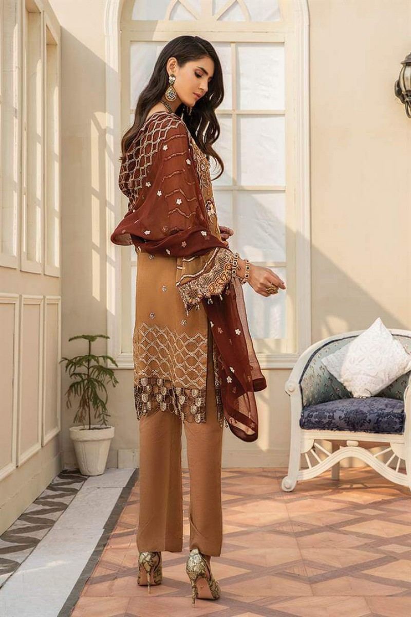 Pakistani Suits Maryam's Summer Collection Vol-17 M-62 Tawny Rose