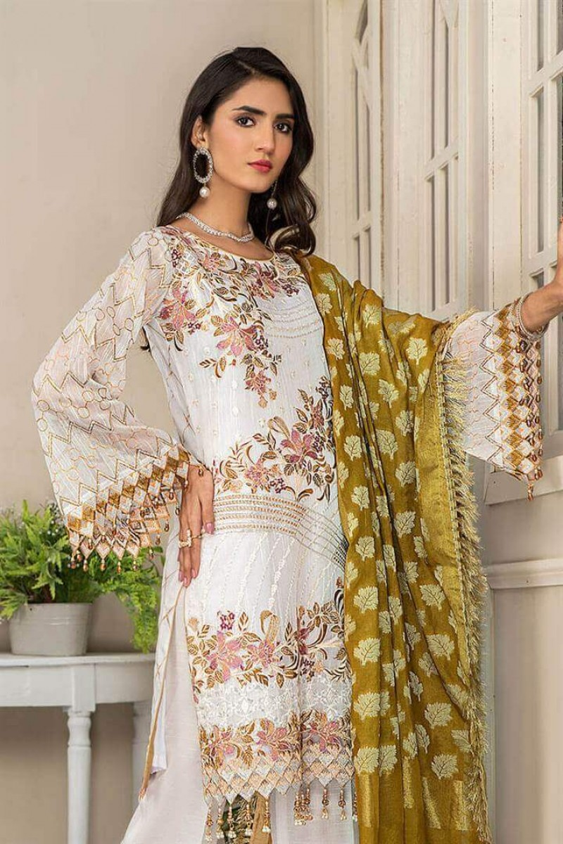 Pakistani Suits Maryam's Summer Collection Vol-17 M-66 Chantilly Tale