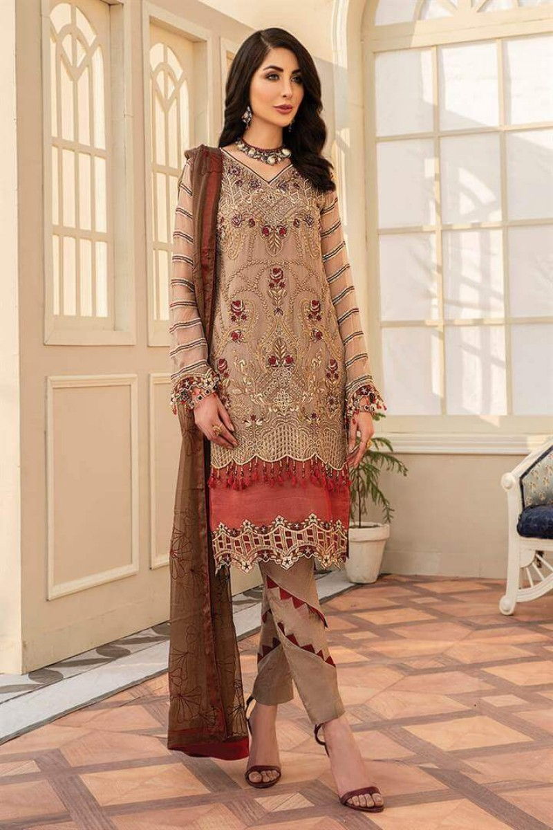 Pakistani Suits Maryam's Summer Collection Vol-17 M-67 Dusky Rosewood