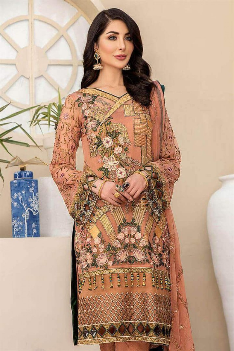 Pakistani Suits Maryam's Summer Collection Vol-17 M-69 Poised Beige