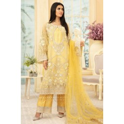 Maryum N Maria Premium Chiffon Collection 2020 Yellow Light MMD-09