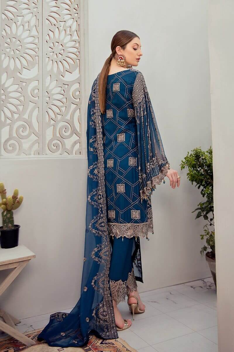 Rangoon Vol 6 by Ramsha Designer Salwar Kameez D-604
