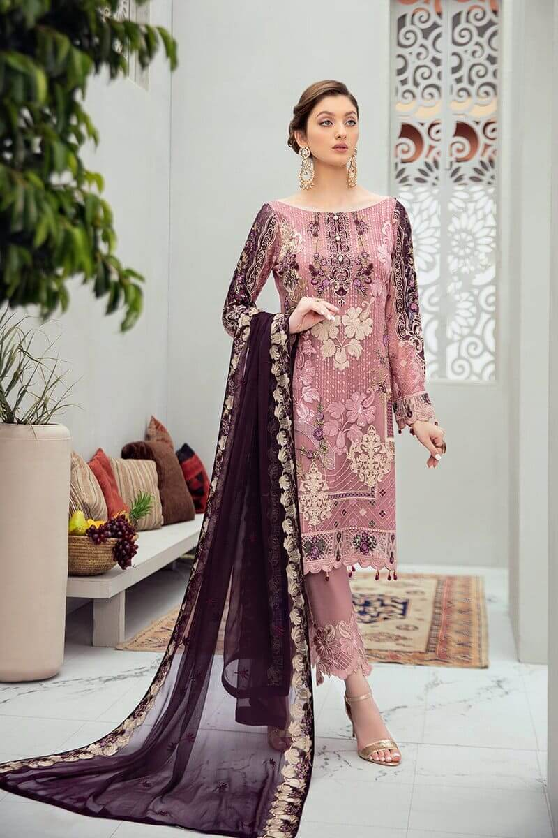 Rangoon Vol 6 by Ramsha Designer Salwar Kameez D-607
