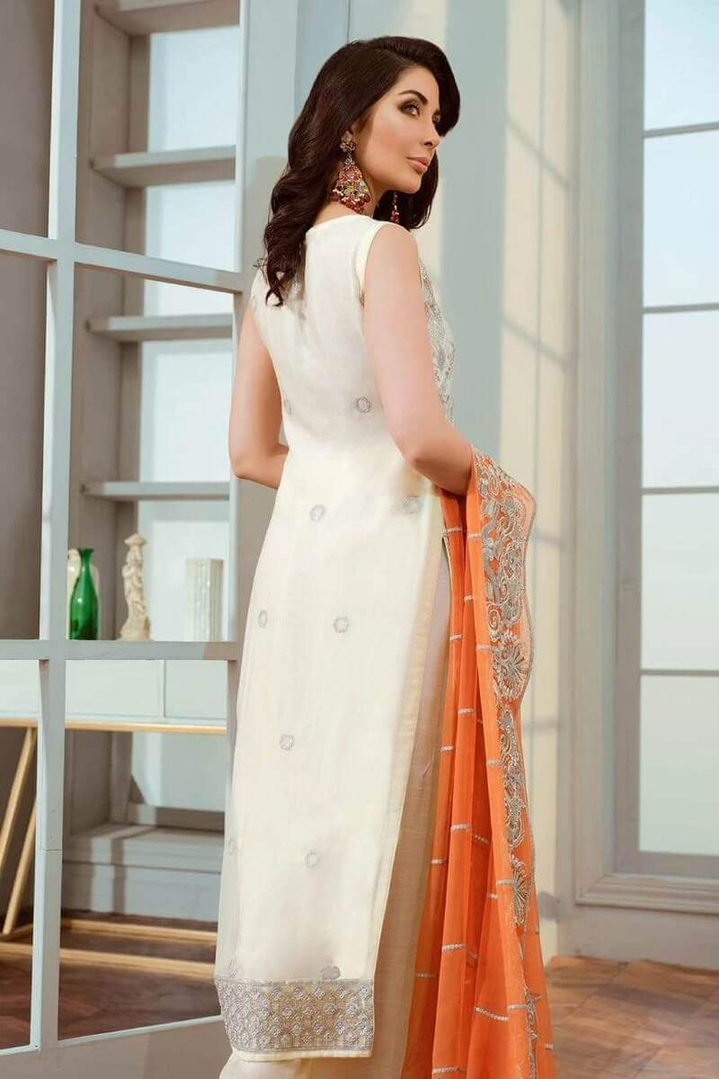 Shamrock Maryum N Maria Chiffon Collection White Breeze SF-04