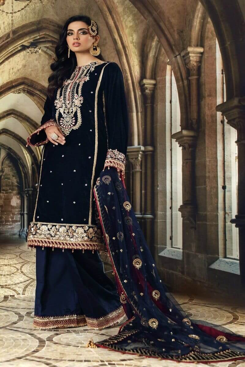 Anaya Velvet Collection 2020 Velour De Luxe 20 Salwar Kameez VL-07