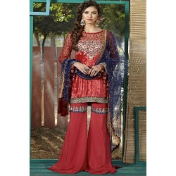 Zara Hayaat Winter Collection 2020 Designer Salwar Kameez Crimson W5