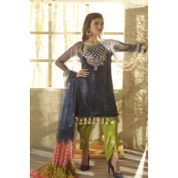 Zara Hayaat Winter Collection 2020 Designer Salwar Kameez Bluebird W6