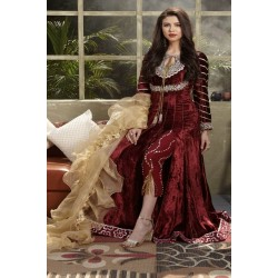 Zara Hayaat Winter Collection 2020 Designer Salwar Kameez Rose Wood W7