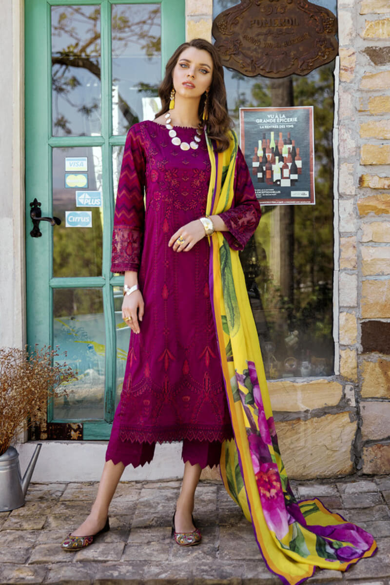 Pakistani Summer Collection Iznik Lawn Collection 2020 IL20-04 WINEBERRY