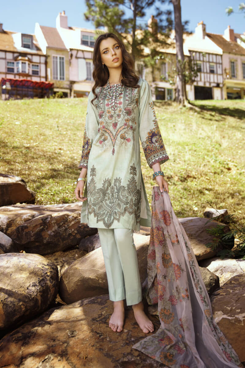 Pakistani Summer Collection Iznik Lawn Collection 2020 IL20-08 PISTACHIO