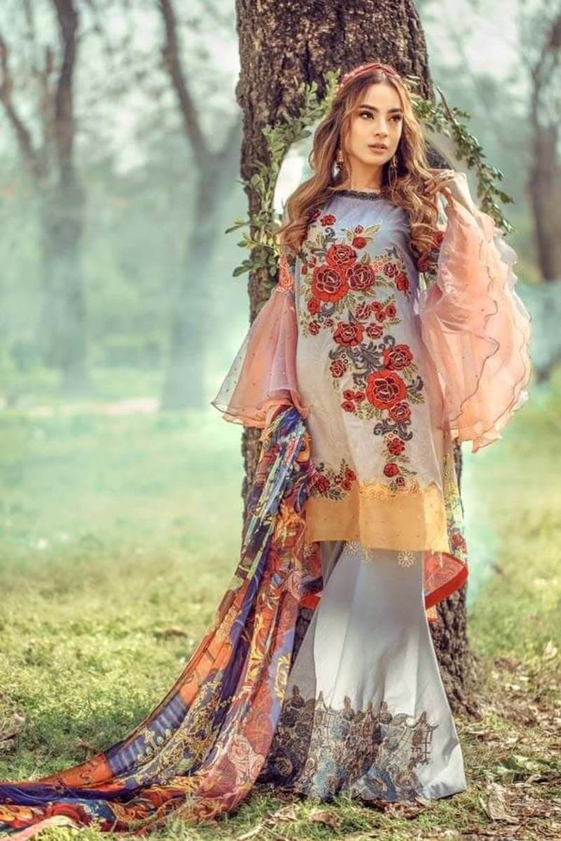 Floral Fantasies Premium Lawn Collection 2020 by Adan's Libas BEAUTY AND THE BEAST