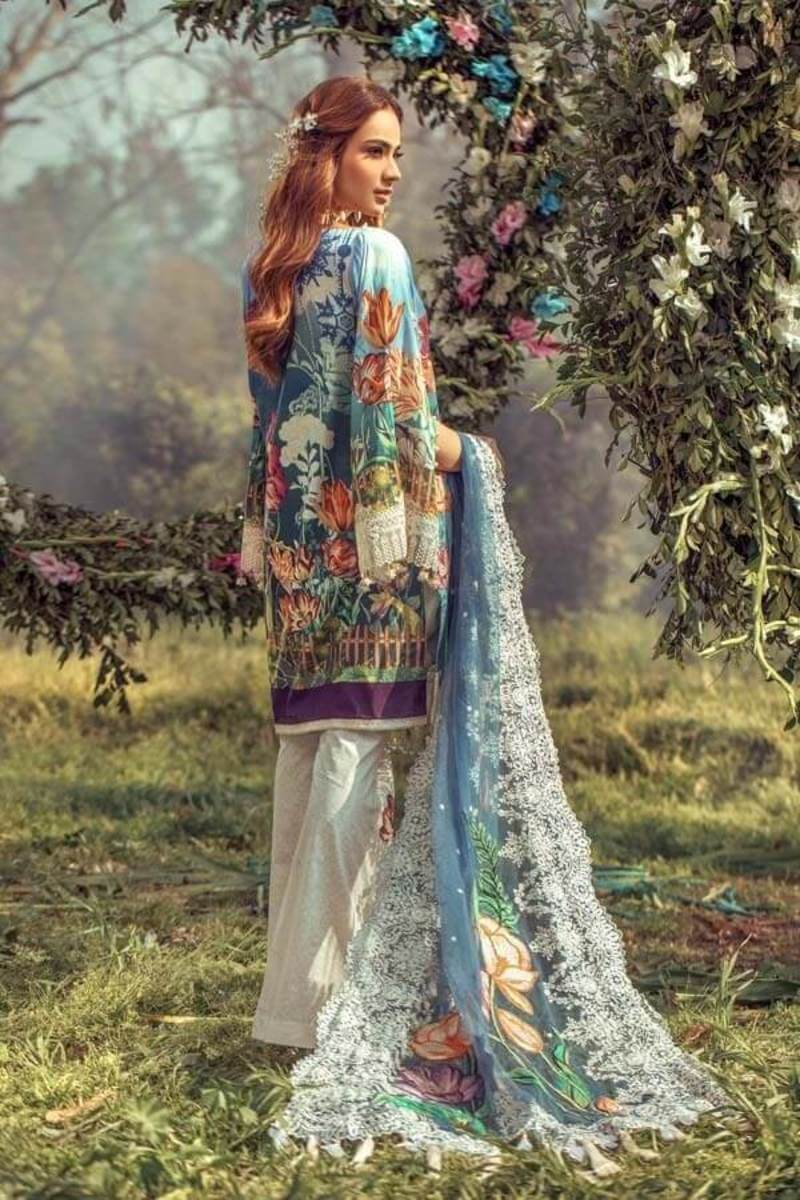 Floral Fantasies Premium Lawn Collection 2020 by Adan's Libas FROZEN