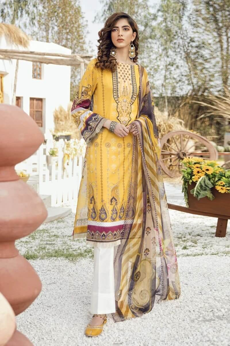 Iznik Guzel Lawn Collection Salwar Kameez GL20-02 Midday Glow
