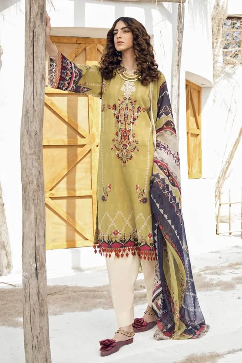 Iznik Guzel Lawn Collection Salwar Kameez GL20-09 Ancient Castle