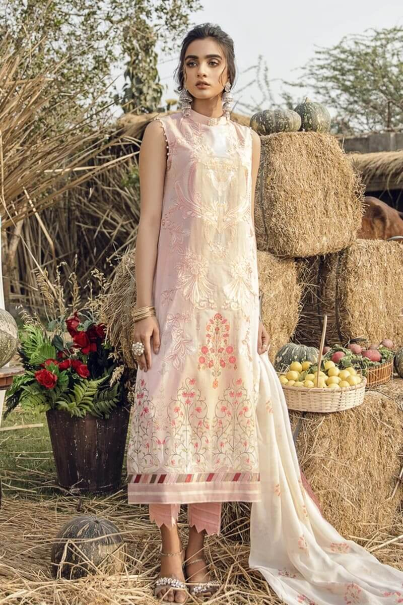 Iznik Guzel Lawn Collection Salwar Kameez GL20-11 Cherry Blossoms