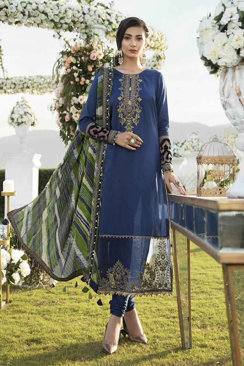 Mariab Sateen Winter Collection 2020 Designer Salwar Suits CST-301