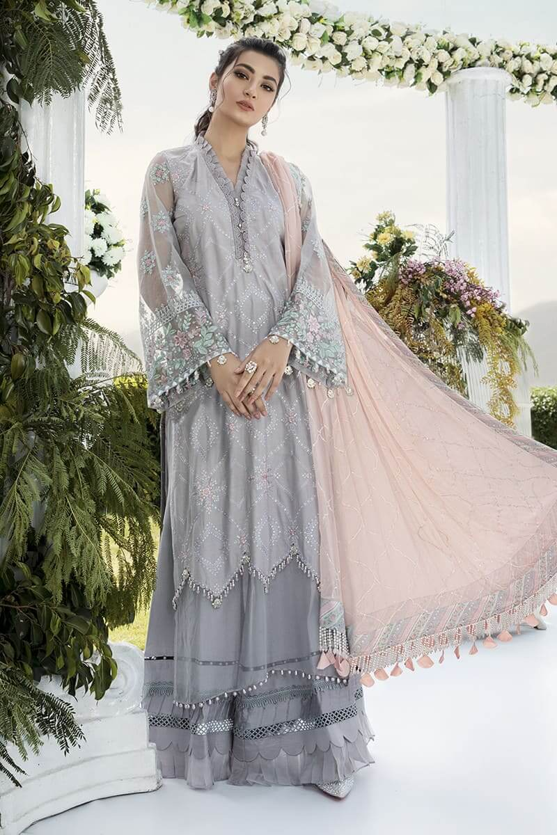 Mariab Sateen Winter Collection 2020 Designer Salwar Suits CST-304