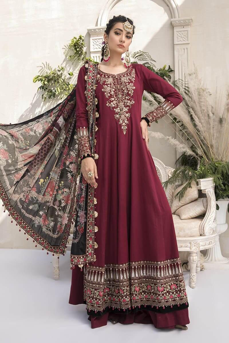 Mariab Sateen Winter Collection 2020 Designer Salwar Suits CST-307