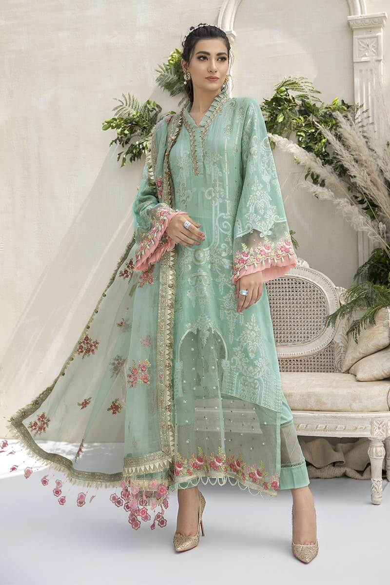 Mariab Sateen Winter Collection 2020 Designer Salwar Suits CST-308