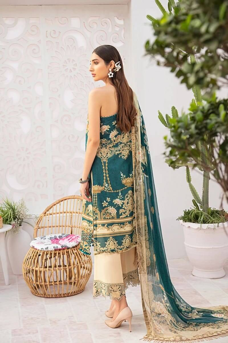 Chevron Luxury Lawn Vol 3 by Ramsha Designer Salwar Kameez C-303