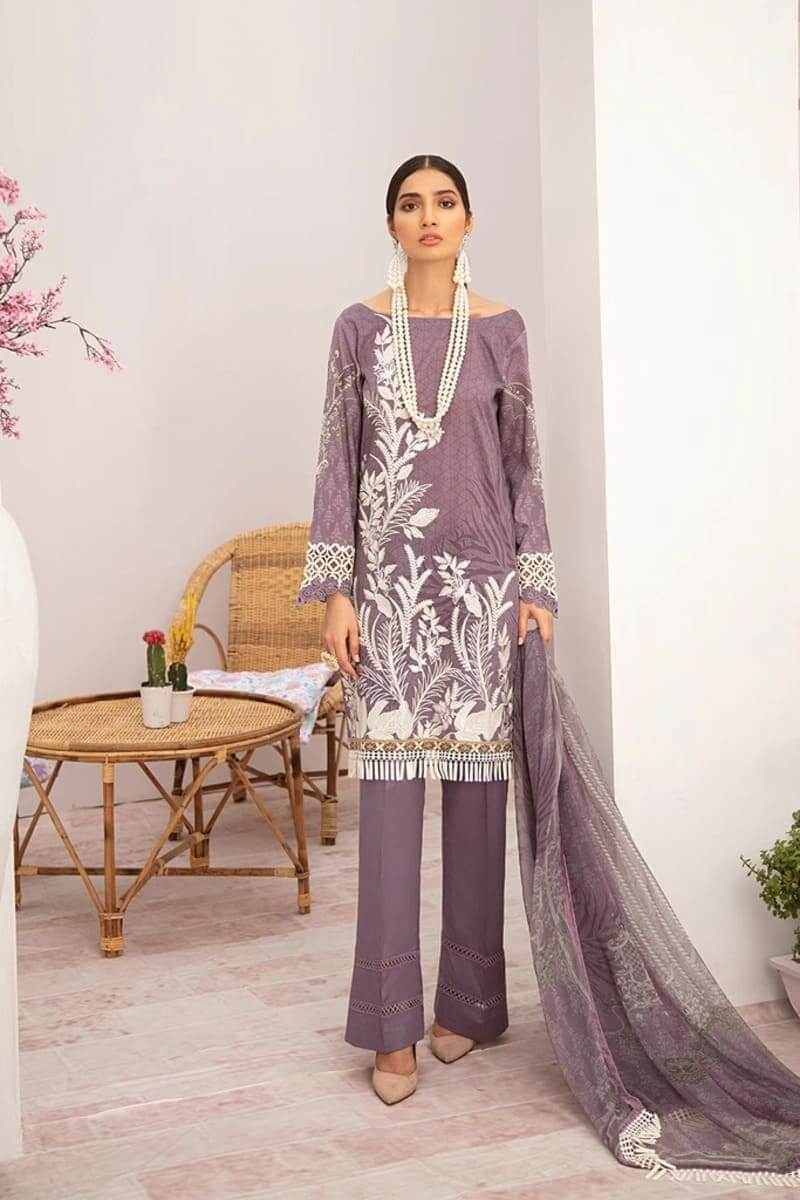 Chevron Luxury Lawn Vol 3 by Ramsha Designer Salwar Kameez C-304