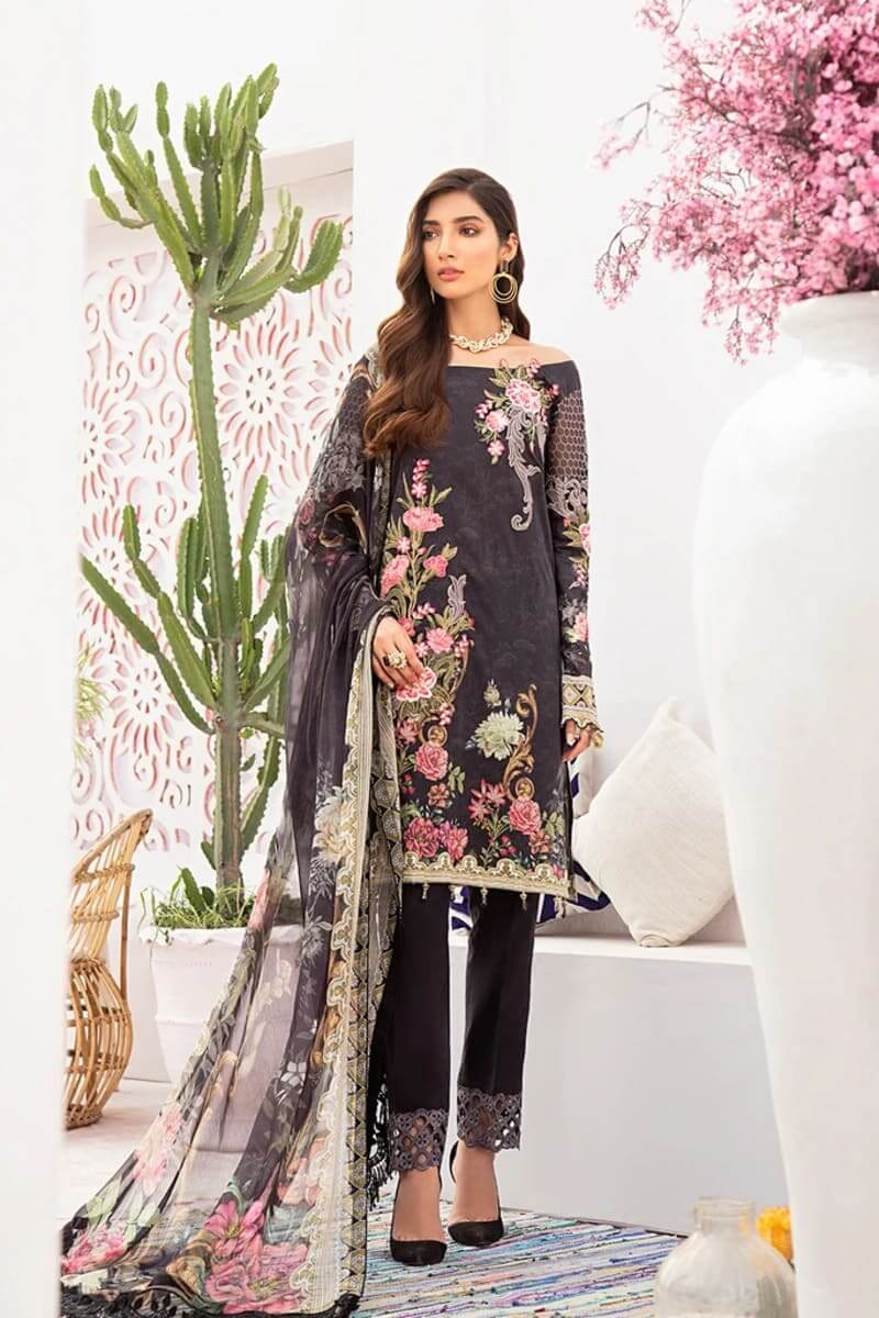 Chevron Luxury Lawn Vol 3 by Ramsha Designer Salwar Kameez C-305