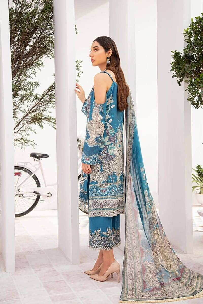 Chevron Luxury Lawn Vol 3 by Ramsha Designer Salwar Kameez C-306