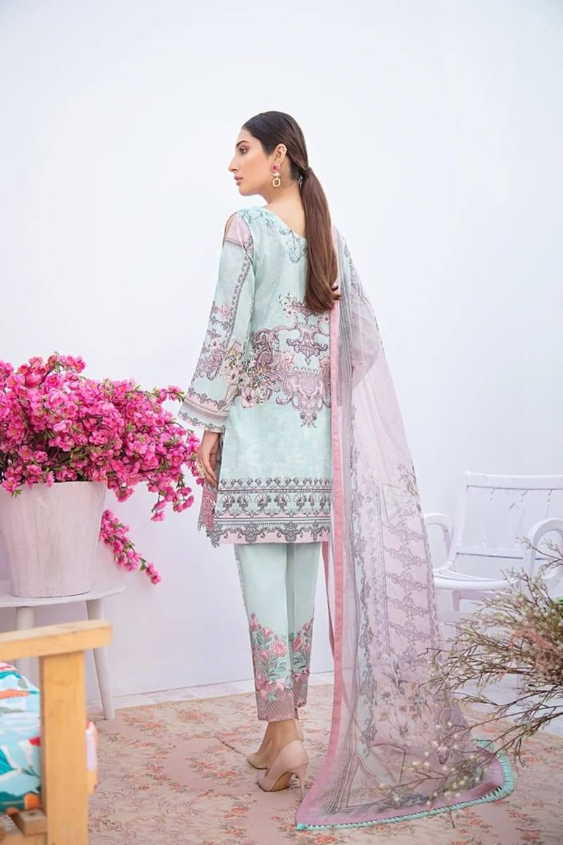 Chevron Luxury Lawn Vol 3 by Ramsha Designer Salwar Kameez C-309