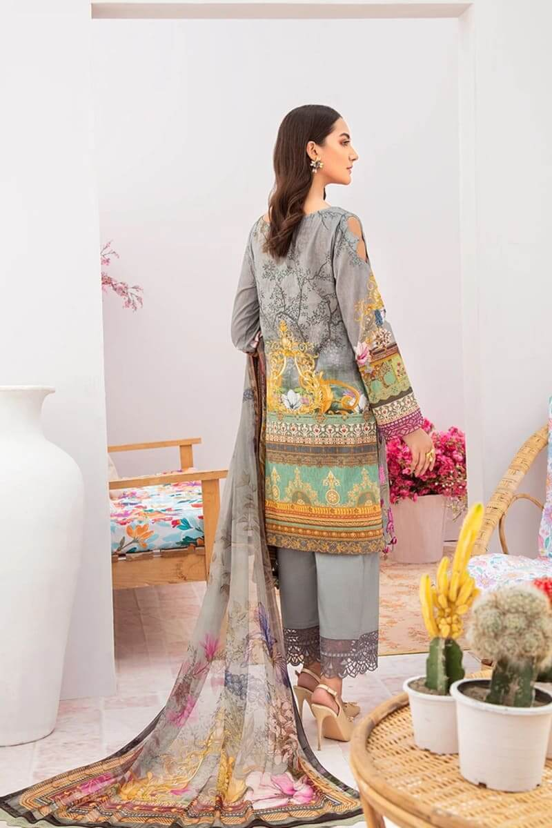 Chevron Luxury Lawn Vol 3 by Ramsha Designer Salwar Kameez C-310