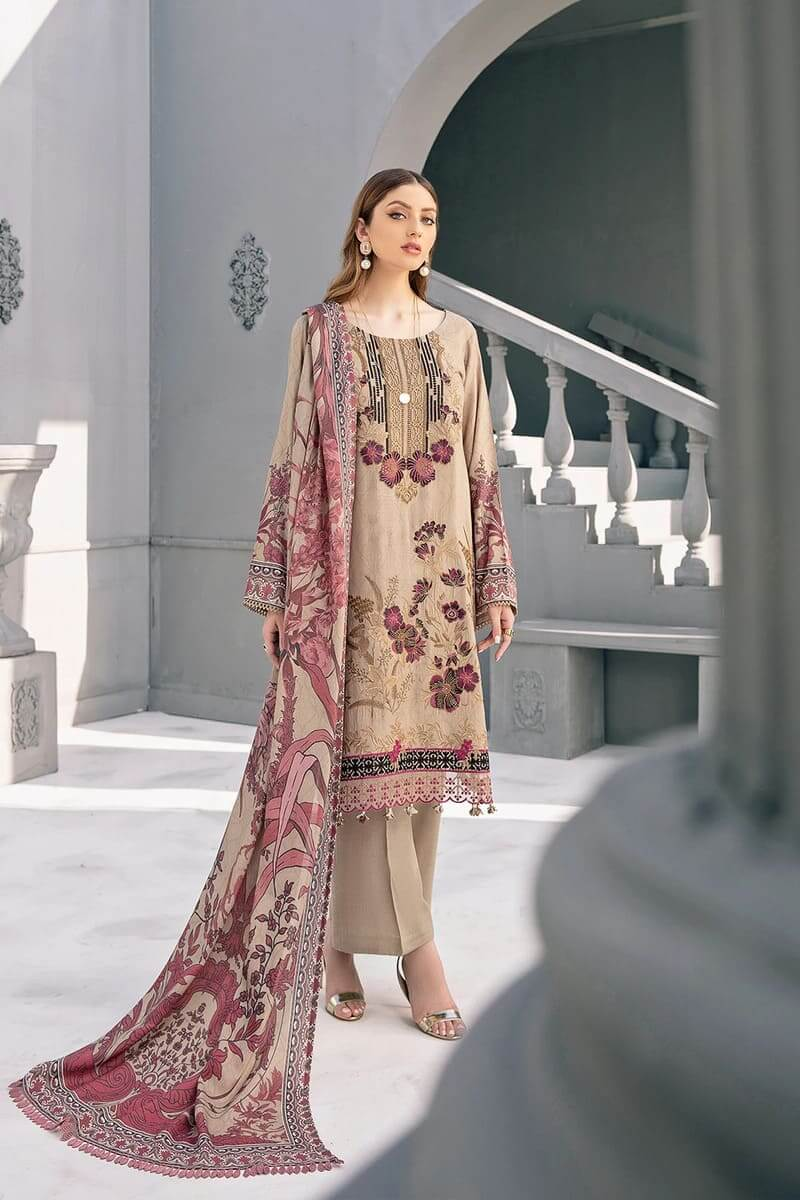 Riwayat linen Collection 2020 by Ramsha Designer Salwar Kameez R-105
