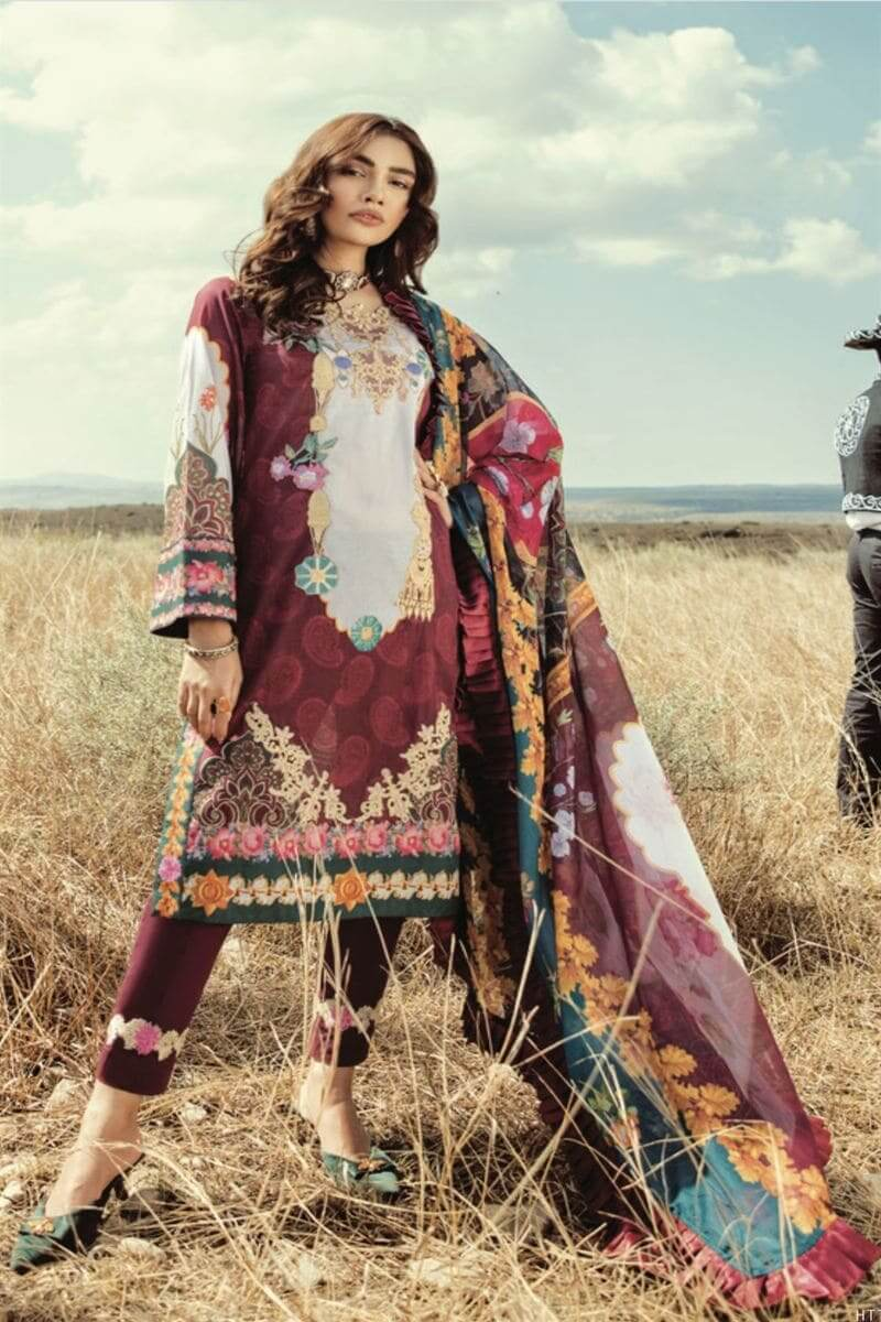 Rouche Luxury Signature Summer Lawn Collection 2020 Design 01