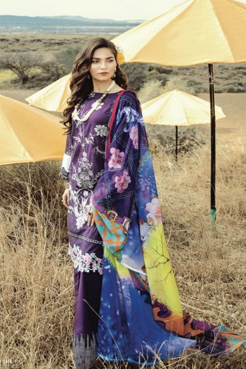Rouche Luxury Signature Summer Lawn Collection 2020 Design 04