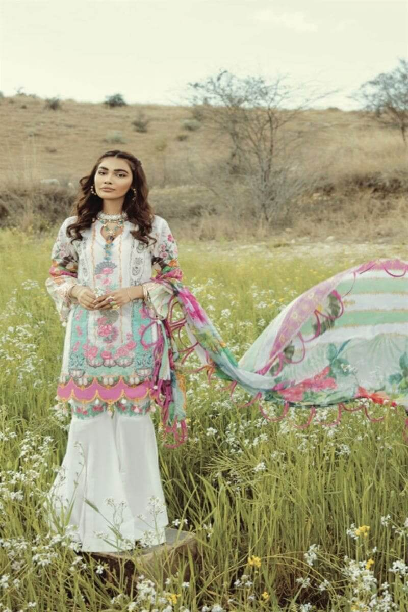 Rouche Luxury Signature Summer Lawn Collection 2020 Design 07