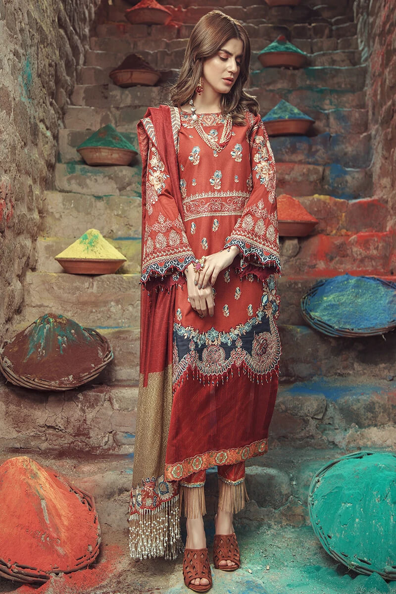 Roxanne Lawn Collection by Serene Premium Designer Pakistani Suits SL-03 Crimsyn
