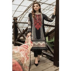 Afrozeh Sienna Lawn 2020 Designer Pakistani Suits 01-Black Rose